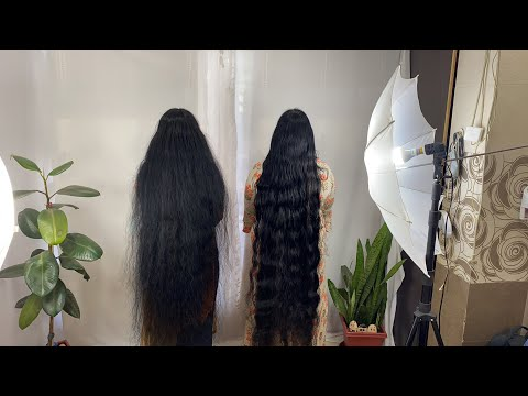 ILHW Rapunzels Ganga  & Meera Everyday Hair Styling & Hair Flaunting With Each Others Long Hair