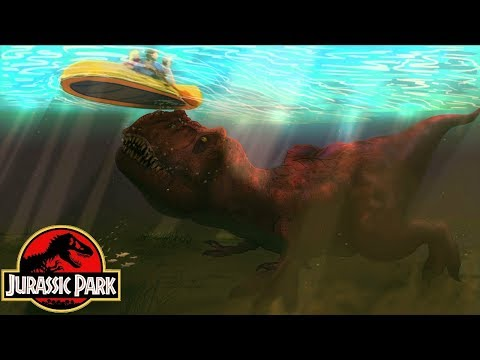 How The T-Rex Attacked The River Raft - Michael Crichton's Jurassic Park