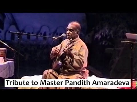 Tribute to Dr. W D Amaradeva 1927—2016