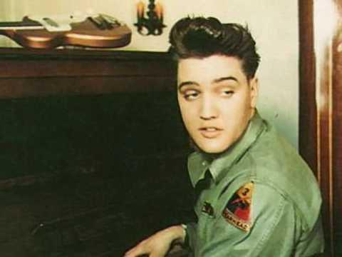 Elvis Presley sing in the Army in Germany.