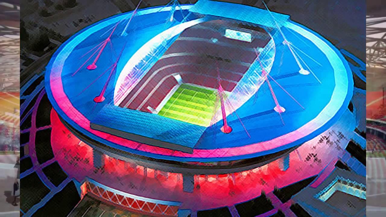 Voici les stades de la russie 2018 youtube - Stade coupe du monde 2022 ...