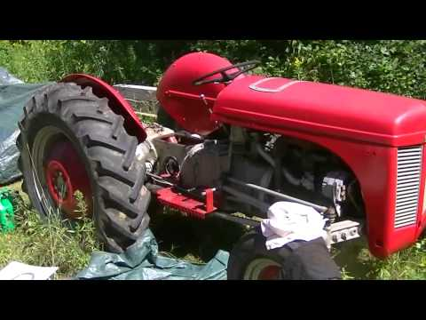 Ferguson TEA 20 hydraulics - YouTube