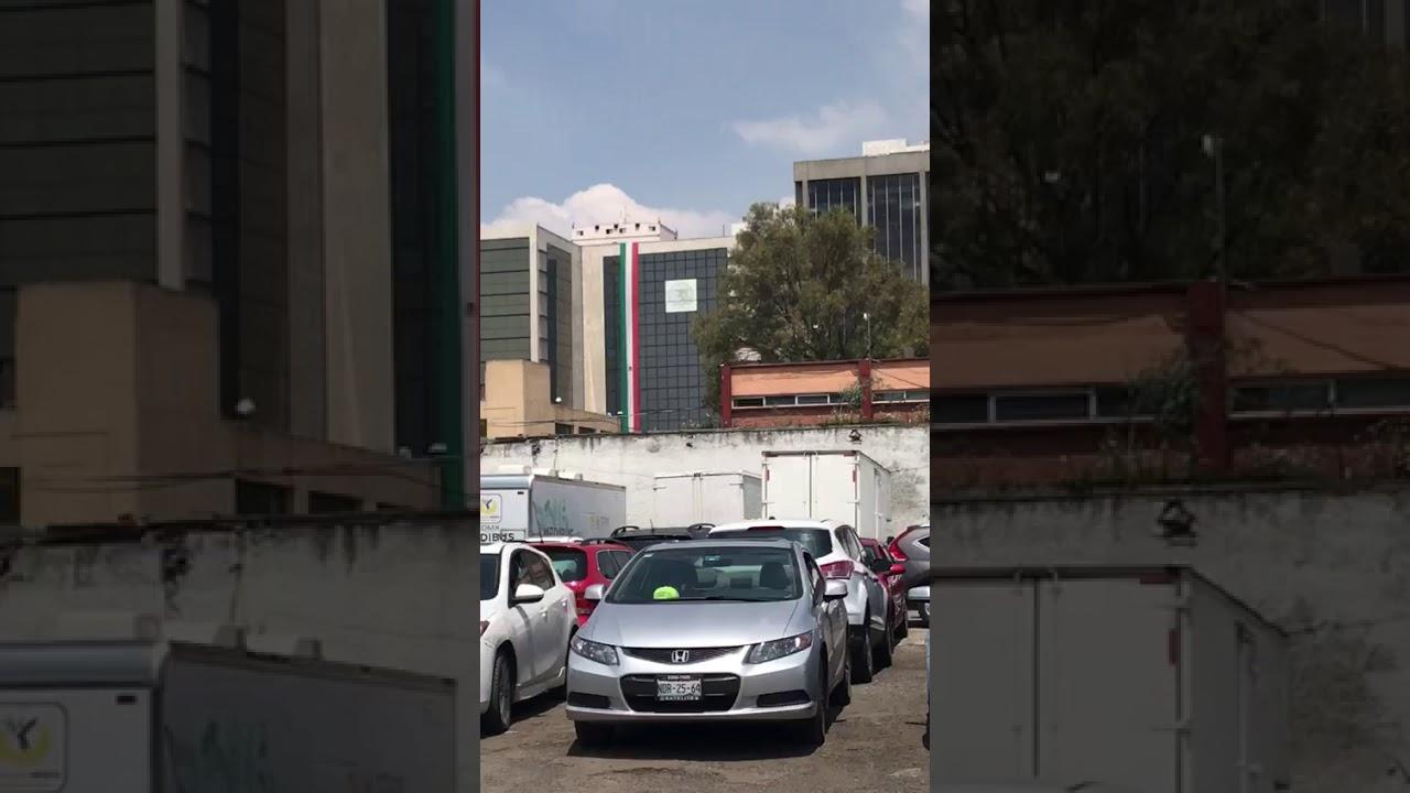 Captan derrumbe de edificio en CDMX - YouTube