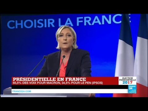 REPLAY - Discours de Marine Le Pen, battue à l'élection présidentielle avec 34,9 % des voix