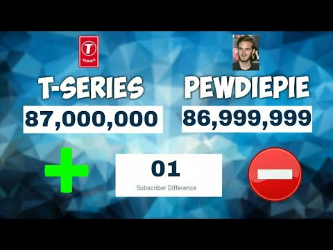 The Moment When T-Series Surpassed PewDiePie (Recorded When T-Series was Ahead)