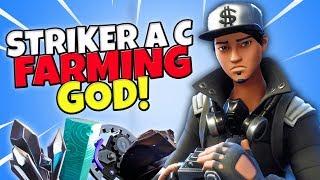 YOU NEED THIS HERO! FARMING GOD! Striker A C Review // Turbo Farming // Fortnite Save The World