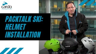 PACKTALK Ski: Helmet Installation