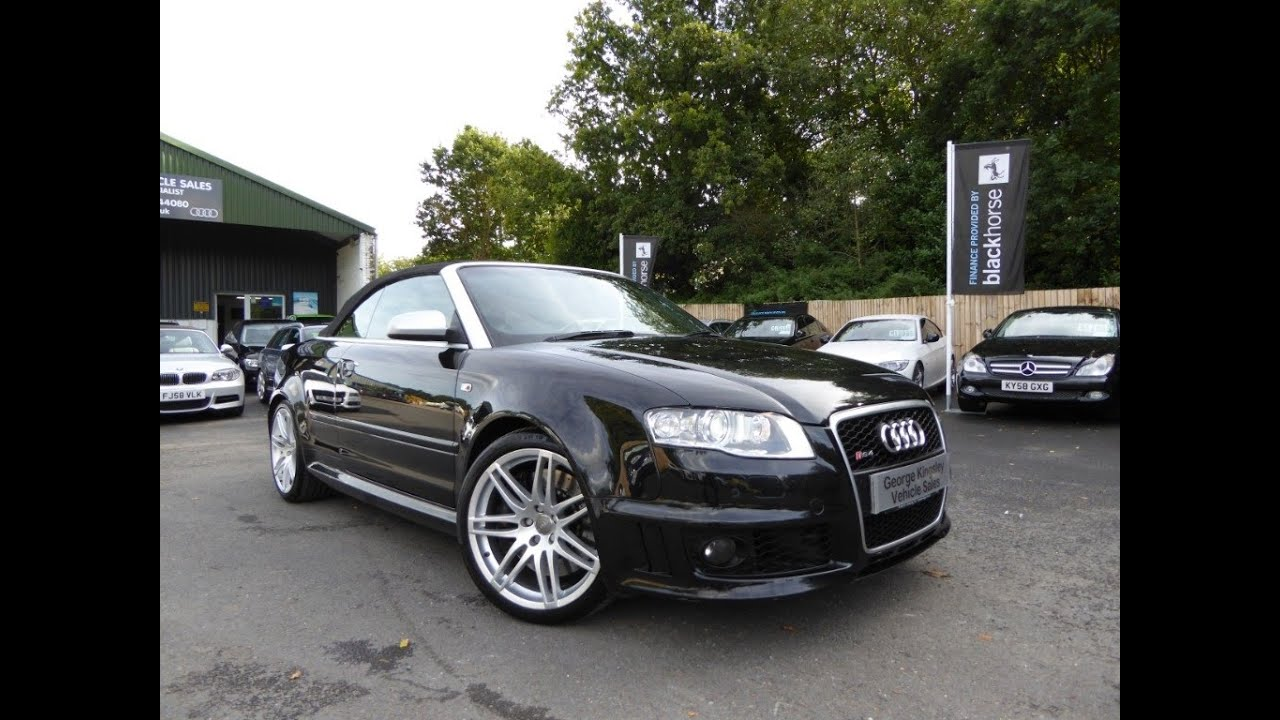 audi rs4 cabriolet for sale at george kingsley vehicle sales colchester essex 01206 728888. Black Bedroom Furniture Sets. Home Design Ideas