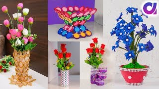 5 Easy Flower Vase | How to Make A Flower Vase At Home | Simple Paper Craft | Artkala