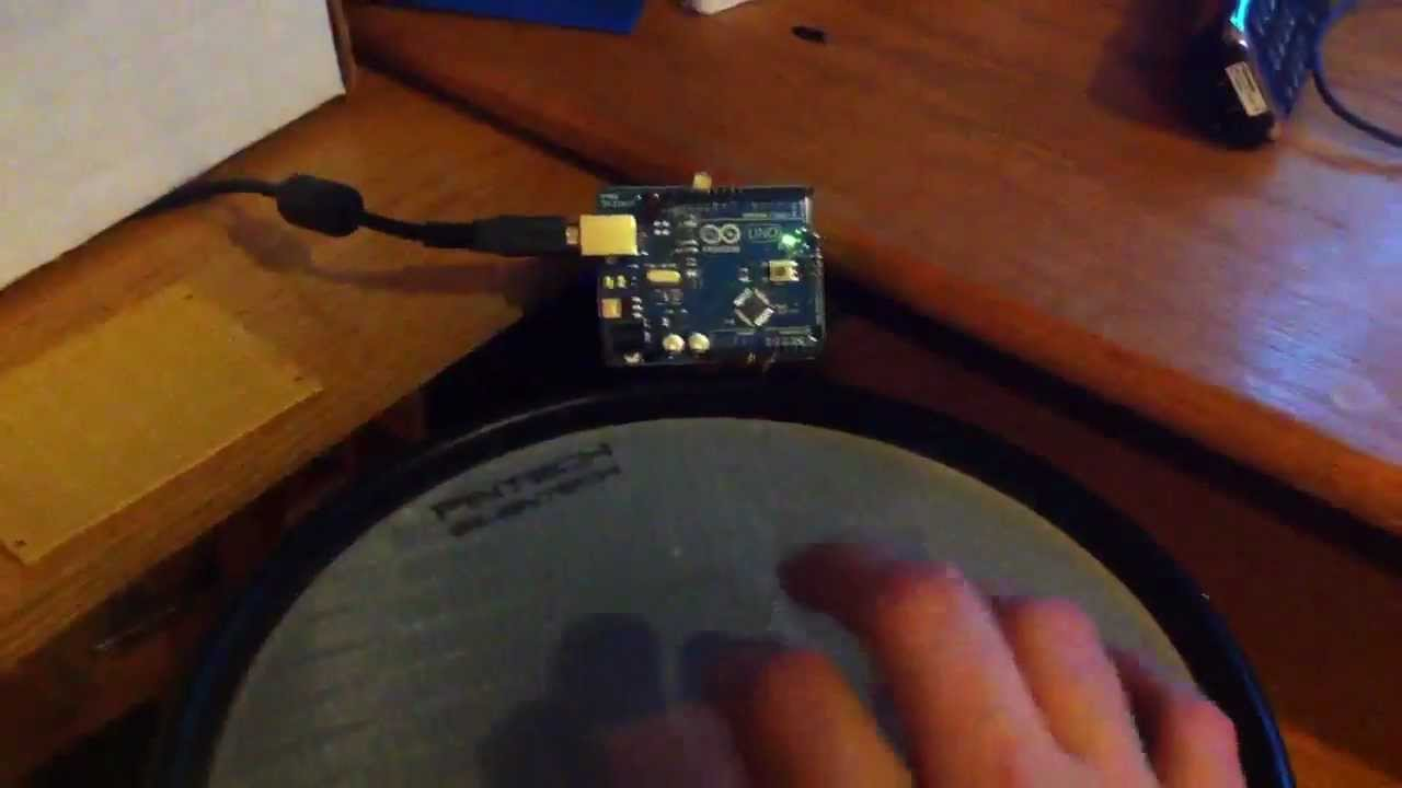 Arduino and Pintech drum light test