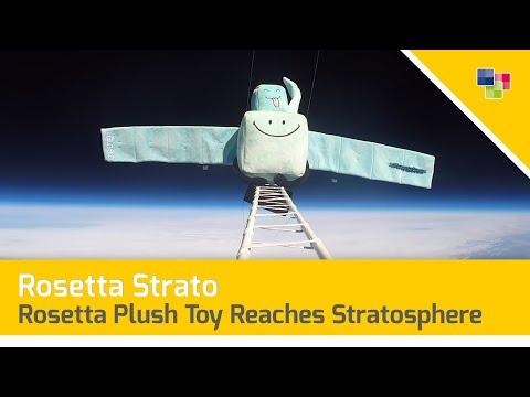 Rosetta Plush Toy Reaches Stratosphere