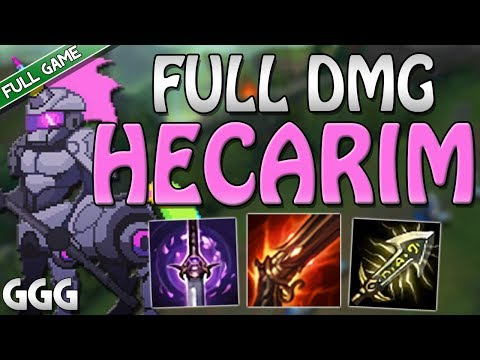 RAPID FIRE CANNON HECARIM IS CRAZY! I THOUGHT CHAT WAS TROLLING - League of Legends Top [FULL GAME]