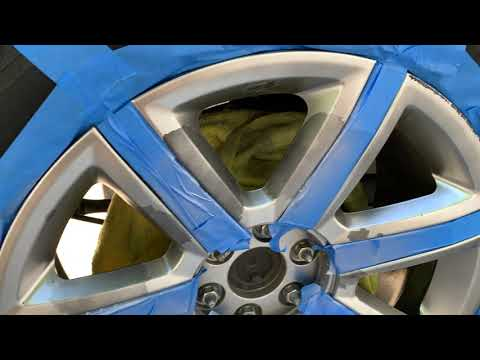 HOW TO FIX/PAINT PEELING WHEELS/RIMS ON Cadillac Escalade INEXPENSIVELY! DIY