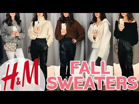 미국 H&M 겨울 가을 신상 스웨터 하울 / 가을옷 코디 / NEW H&M Winter Fall Sweater / 이쁜 스웨터로 가을 패션 완성~