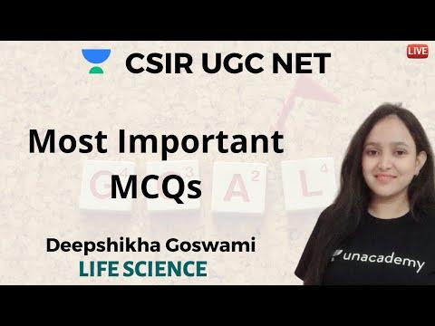 Important MCQ's For Life Science | Unacademy Live CSIR UGC NET | Deepshikha Goswami