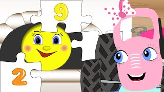Мультик пазл. Сказка Колобок. Вместе с трактором Лялей учимся считать и собирать пазлы.