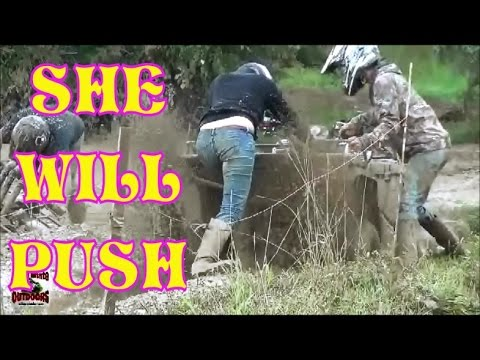SHE WILL PUSH....BLAST HER WITH MUD! TALL PINES ATV PARK
