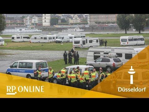 Irische Landfahrer in Düsseldorf: Polizei räumt die Rheinwiese