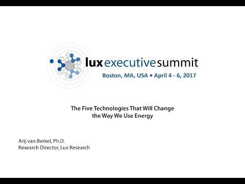LES 2017 Americas - Arij van Berkel, Ph.D., Research Director, Lux Research Keynote
