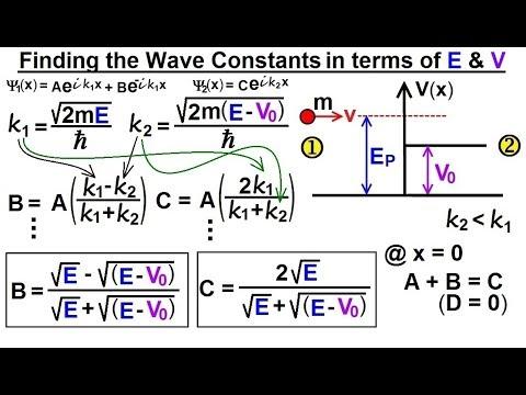 Physics - Ch 66 Ch 4 Quantum Mechanics: Schrodinger Eqn (66 of 92) B=? C=? in terms of E & V0