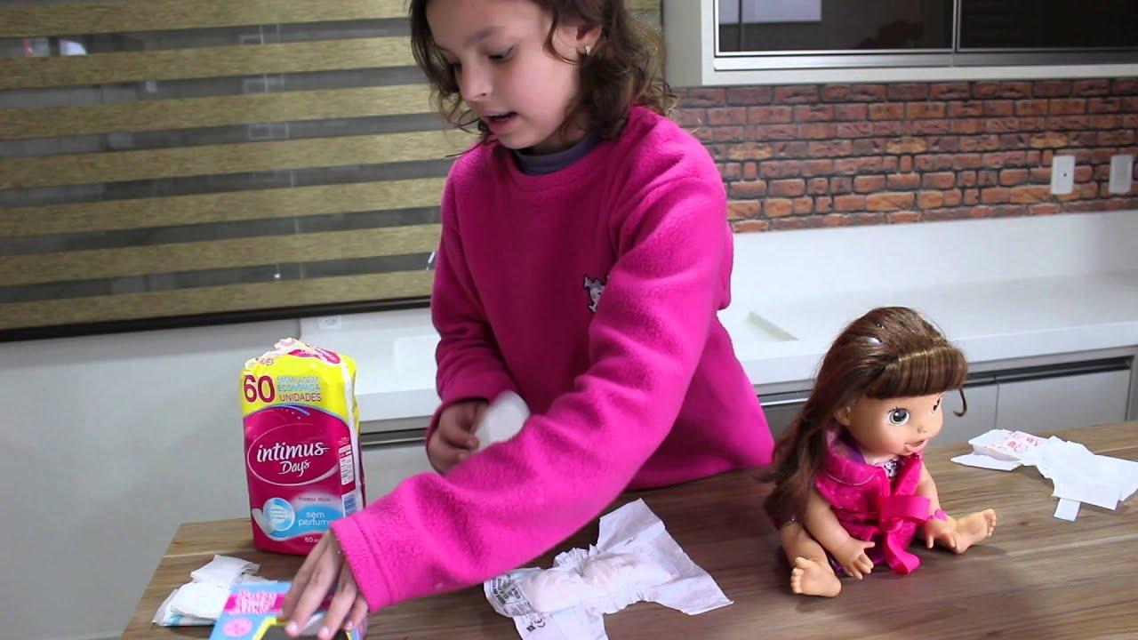 29078036d6 como fazer fralda para Baby Alive - YouTube