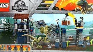 Jurassic World Lego Dilophosaurus Outpost Attack 75931 - Lego Fallen Kingdom - Dinosaur Speed Build