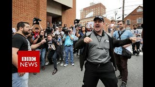 'Very violence scenes' as far-right marchers and protesters clash in Virginia - BBC News