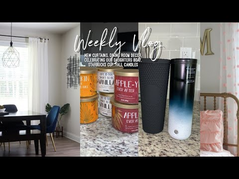 NEW HOME UPDATE: 500,000 VIEWS   NEW CURTAINS   DINING ROOM DECOR   NEW STARBUCKS CUP   FALL CANDLES