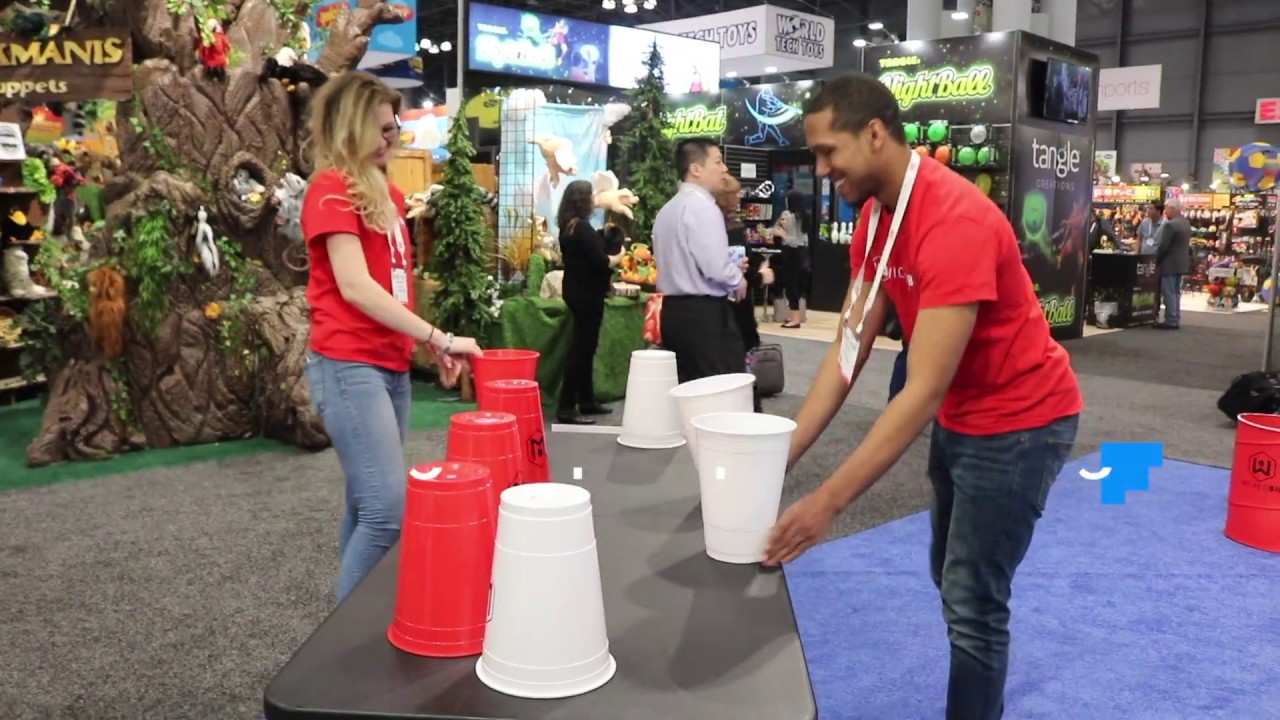 f354576d We Go Hands-On with Wicked Big's Giant Pong & Flip Cup at Toy Fair 2018
