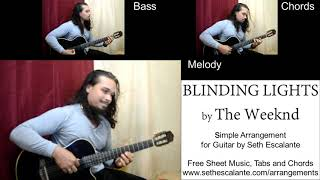 Blinding Lights (The Weeknd) performed by Seth Escalante - Tutorial, Free Sheet Music, Tabs, Chords