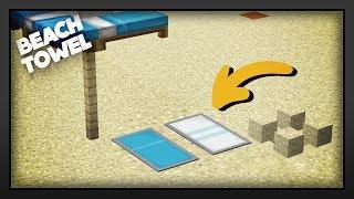 Minecraft - How To Make A Beach Towel
