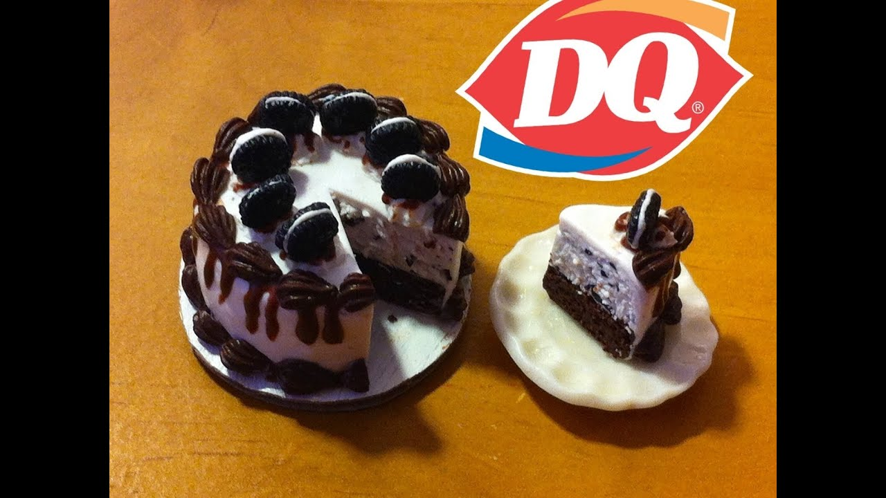 Dairy Queen Inspired Oreo Cookie Ice Cream Cake Polymer Clay Tutorial You