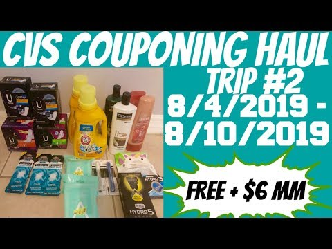 CVS COUPONING HAUL 8/4/2019 - 8/10/2019 | TRIP #2 | FREE + $6 MM