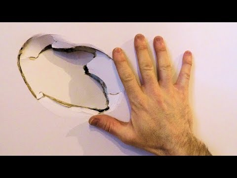 How to Fix a Hole in the Wall // Drywall Simple and Easy