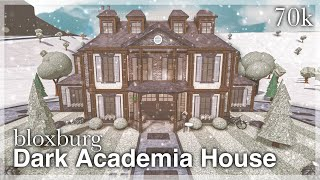 Bloxburg Dark Academia House Speedbuild Exterior Youtube