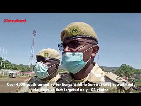 Unemployment: Over 4000 youth turned up for KWS recruitment, only 102 positions needed to be filled