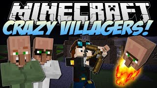 Minecraft | CRAZY VILLAGERS! (Exploding Heads & Villager Bows!) | Mod Showcase