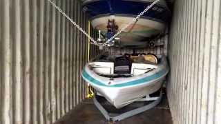 Лодки из США ( погрузка 4 лодок в контейнер 40