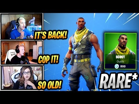 STREAMERS REACT *RARE* SCOUT SKIN IS BACK! - Fortnite Epic & Funny Moments (Fortnite Battle Royale)