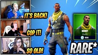 LES STREAMERS RÉAGISSENT À LA PEAU SCOUTE « RARE » EST DE RETOUR ! - Fortnite Epic - Moments drôles (Fortnite Battle Royale)