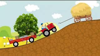 СБОРНИК 2 - ЕДЕТ ТРАКТОР 50 минут 8 развивающих песенок мультиков для детей про трактора и
