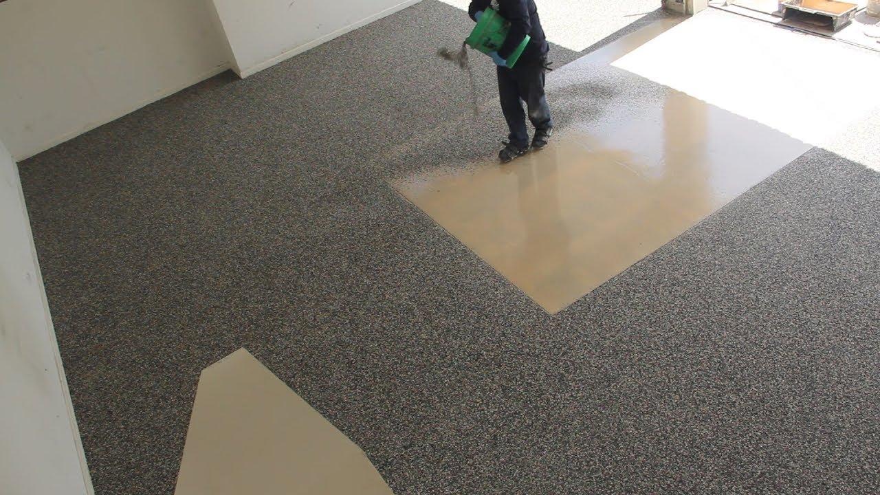 Polyurea Flooring Installation By Sears