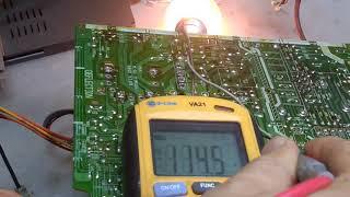 ремонт телевизора LG (GoldStar) CF-20D60 (шасси MC-64A) не включается.