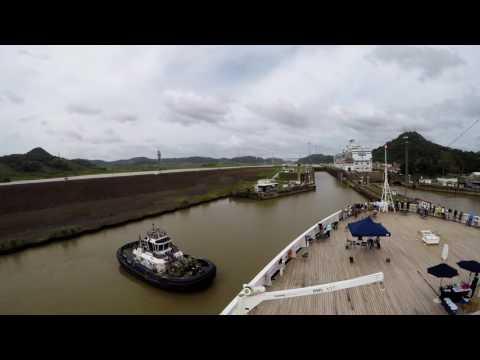 Panama Canal - Holland America Veendam 12-14-2016