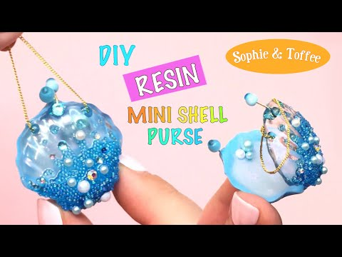 Mini shell purse- Sophie & Toffee- DIY- Tutorial- Resin