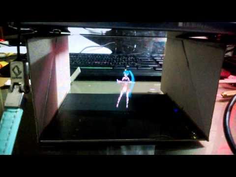 DIY miku hologram Illusion with ps vita