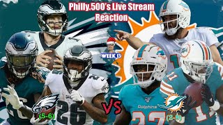 Eagles VS Dolphins | Live Reaction | Week 13