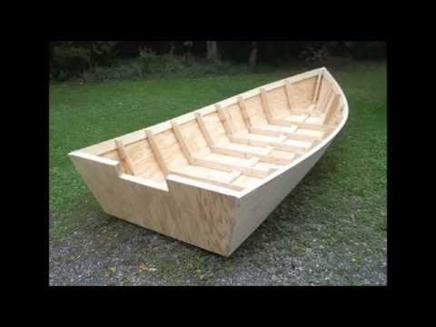 Wood Boat Plans Stitch & Glue - Large Wooden Boat Building - YouTube