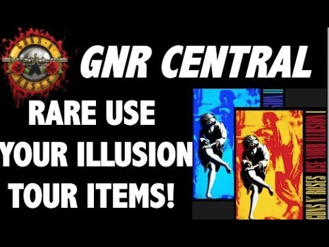 Guns N' Roses: Rare Use Your Illusion Tour Memorabilia! Axl, Slash, Duff Tour Diaries!