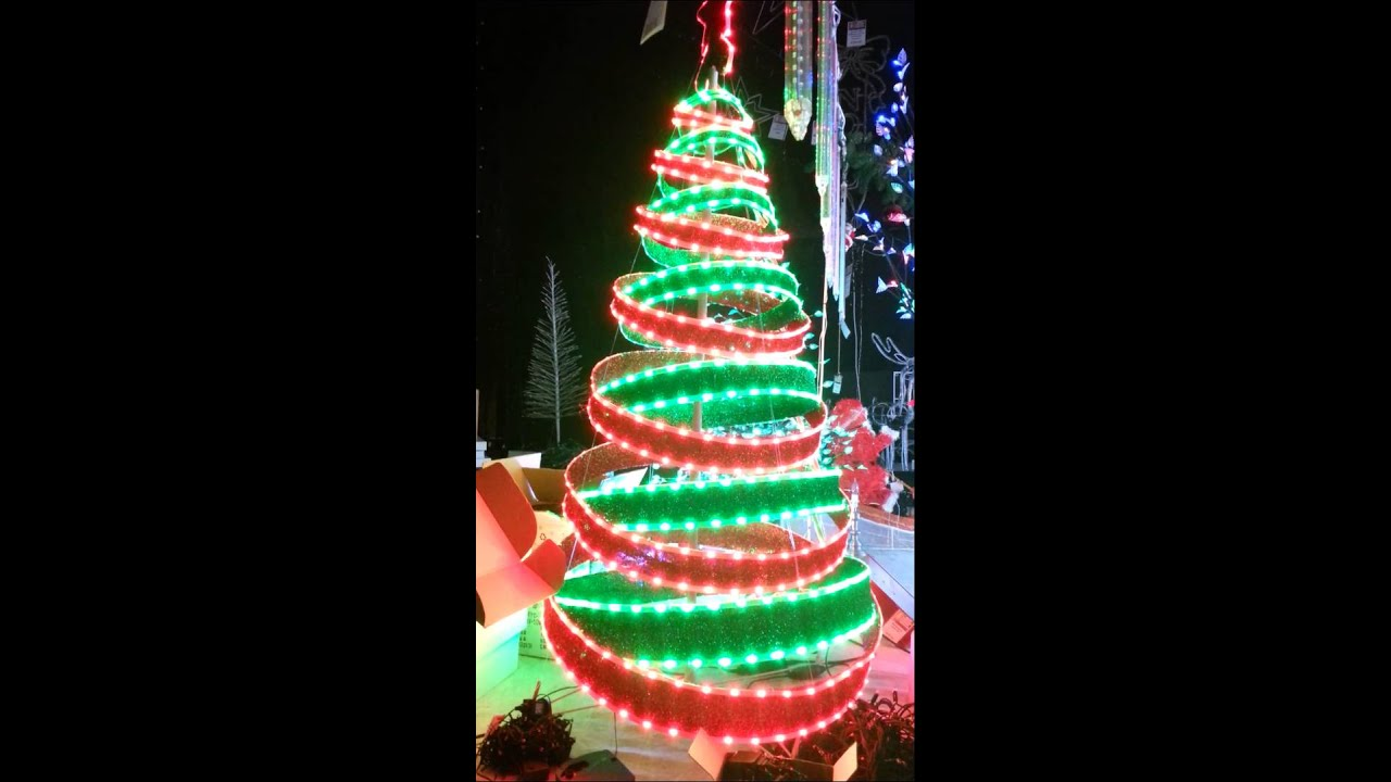 Christmas Red And Green LED Ribbon TREE RARE